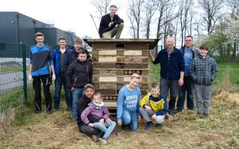 Projekt Wildbienenhotel 2017