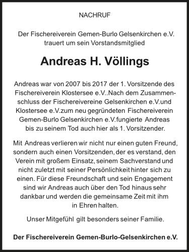 Nachruf Andreas H. Völlings